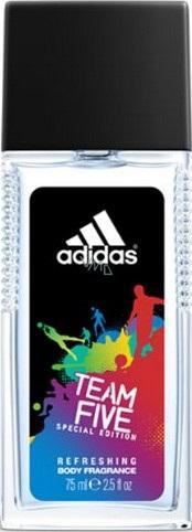 Adidas Team Five parfémovaný deodorant sklo pro muže 75 ml