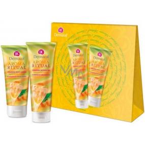 Dermacol Aroma Ritual Mandarinkový sorbet Povznášející sprchový gel s mandarinkovým olejem 250 ml + tělové mléko 200 ml, kosmetická sada