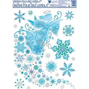 Room Decor Okenní fólie bez lepidla jemná ledová anděl 42 x 30 cm
