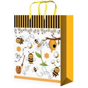 Taška Dárková celoroční pro děti včelky M 23 x 18 x 10 cm