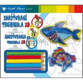 Smršťovací technika 3D 01 Ryba 18 x 15,5 cm
