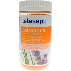 Tetesept Uvolnění levandule + citronová tráva relaxační mořská sůl do koupele 900 g