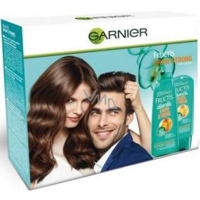 Garnier Fructis Grow Strong posilující šampon 250 ml + posilující balzám 200 ml, kosmetická sada