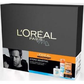 Loreal Paris Men Expert Hydra Sensitive voda po holení pro citlivou pleť 100 ml + pěna na holení 200 ml + Energetic sprchový gel 300 ml, kosmetická sada