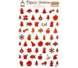 Arch Holografické vánoční samolepky obrázky různé motivy červené 830