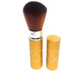 Kosmetický štětec na pudr s krytkou zlatý 30450-06 11 cm