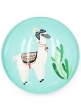 Nekupto Magnet tyrkysová kolečko Lama, kaktus 4 cm