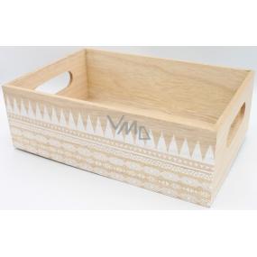 Nekupto Home Decor Dřevěný box 30 x 20 x 10 cm