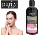 Purity Plus Charcoal Aktivní uhlí, Aloe Vera, vitamín E a extrakt květů heřmánku detoxikační a čisticí micelární voda na obličej, oči a rty 200 ml