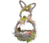 Košík proutěný s levandulí, tvar zajíc 29 cm