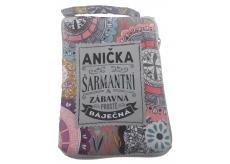 Albi Skládací taška na zip do kabelky se jménem Anička 42 x 41 x 11 cm