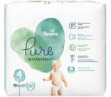 Pampers Pure Protection velikost 4, od 9-14 kg plenkové kalhotky 28 kusů
