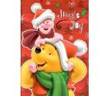 Ditipo Disney Dárková papírová taška pro děti Medvídek Pú a prasátko 26,4 x 12 x 32,4 cm L