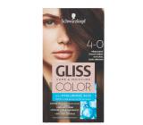 Schwarzkopf Gliss Color barva na vlasy 4-0 Přirozeně tmavě hnědý 2 x 60 ml