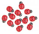 Berušky samolepicí červené 2 cm 12 kusů