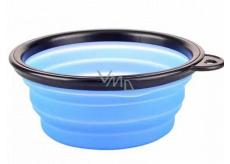 B&F Miska cestovní silikonová, skládací modrá 0,38 l
