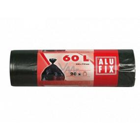 Alufix Sáčky do odpadkového koše černé, 10 µ, 60 llitrů, 64 x71 cm, 20 kusů