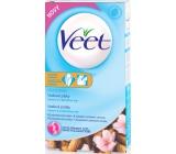 Veet A vitamín E a mandlový olej voskové pásky pro citlivou pokožku 16 + 4 kusy