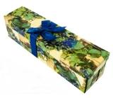 Anděl Dárková krabička skládací s mašlí na láhev hrozny 34 x 9,5 x 9,5 cm 1 kus