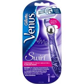 Gillette Venus Swirl 5břitý holící strojek 1 kus, pro ženy