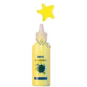 Amos Barvy na sklo zářící ve tmě 1 žlutá 22 ml
