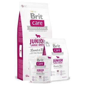Brit Care Junior Jehněčí + rýže pro štěňata a mladé psy od 3 měsíců do 2,5 let velkých plemen nad 25 kg 12 kg, Hypoalergenní kompletní krmivo
