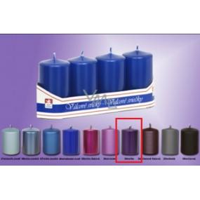Lima Svíčka hladká metal lila válec 40 x 70 mm 4 kusy