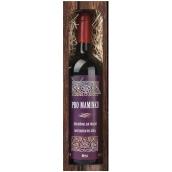 Bohemia Gifts & Cosmetics Merlot Pro Maminku červené dárkové víno 750 ml