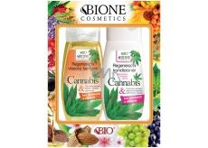 Bione Cosmetics Cannabis regenerační výživný šampon 260 ml + regenerační kondicionér 260 ml, kosmetická sada