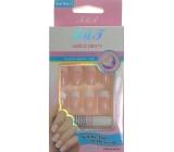 Nail Art umělé nehty 935 s lepidlem francouzská manikúra světle růžová 24 kusů
