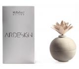 Millefiori Milano Air Design Difuzér dřevěný s květinou nádobka pro vzlínání vůně pomocí porézní vrchní části bílá koule