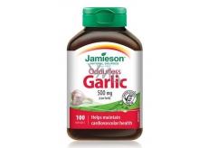 Jamieson Česnek bez zápachu 500 mg, doplněk stravy s rostlinným výtažkem 100 kapslí