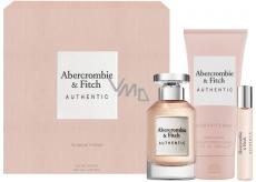 Abercrombie & Fitch Authentic Woman parfémovaná voda 100 ml + tělové mléko 200 ml + parfémovaná voda 15 ml, dárková sada