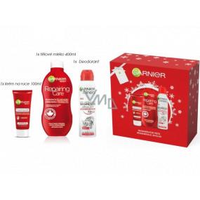 Garnier Repairing Care regenerační tělové mléko 400 ml + regenerační krém na ruce 100 ml + Magnesium Ultra Dry antiperspirant 150 ml, kosmetická sada