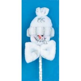 Sněhulák na stříbrné hologramové propisovací tužce 8 + 19 cm