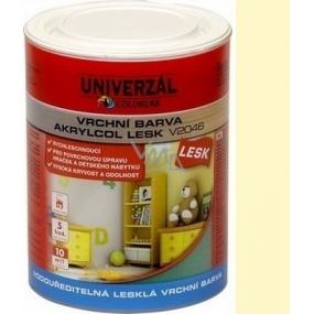 Colorlak Akrylcol Lesk V2046 vodouředitelná lesklá vrchní barva Slonová kost 0,6 l