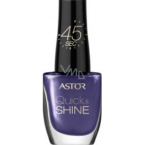 Astor Quick & Shine Nail Polish lak na nehty 403 Vibrant Purple 8 ml