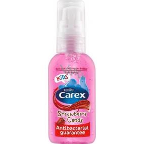 Carex Strawberry Candy Kids Jahoda antibakteriální gel na ruce 50 ml