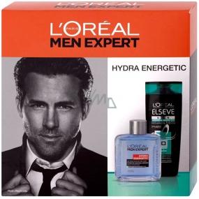 Loreal Paris Men Hydra Energetic voda po holení 100 ml + Elseve šampon pro omezení padání vlasů 250 ml, kosmetická sada