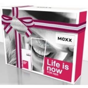 Mexx Life Is Now for Her toaletní voda 15 ml + tělové mléko 50 ml, dárková sada