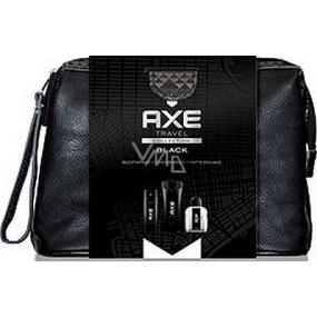 Axe Black sprchový gel 250 ml + voda po holení 100 ml + deodorant sprej 150 ml + toaletní taška, kosmetická sada