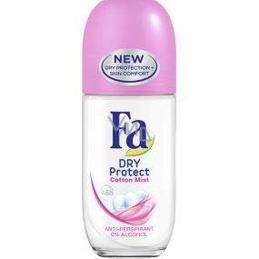 Fa Dry Protect Cotton Mist kuličkový antiperspirant deodorant roll-on pro ženy 50 ml