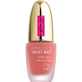 Pupa Dot Shock Lasting Color Velvet Matt lak na nehty 001 Sugar Peach 5 ml