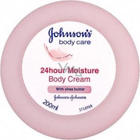 Johnsons Care 24hour Moisture tělový krém s bambuckým máslem 200 ml