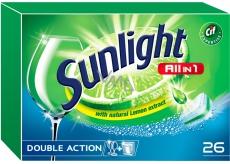 Sunlight All in 1 Lemon Tablety do myčky nádobí 26 kusů
