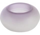 Yankee Candle Tranquility Donut svícen na čajovou svíčku fialový průměr 10 cm
