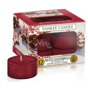 Yankee Candle Frosty Gingerbread - Perník s polevou vonná čajová svíčka 12 x 9,8 g