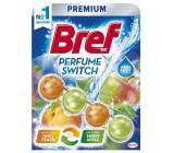 Bref Parfume Switch Peach Apple WC blok s vůní broskve a čeveného jablka efekt změny vůně 50 g