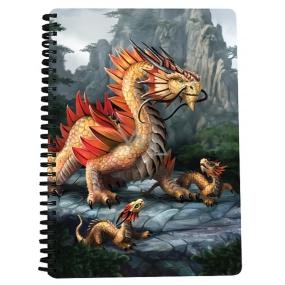 Prime3D sešit A5 - Zlatý horský drak 14,8 x 21 cm
