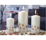 Lima Starlight svíčka bílá/měděná válec 50 x 100 mm 1 kus